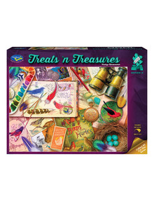 Puzzles Treats 'N Treasures Puzzle, Vintage Birdwatcher, 1000-Piece product photo