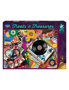 Puzzles Treats 'N Treasures Puzzle, Viva Le Vinyl, 1000-Piece product photo