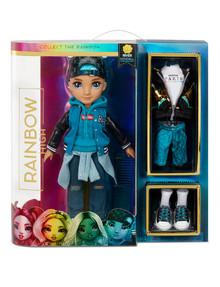 Rainbow High Series 2 Teal Fashion Doll, River Kendall product photo