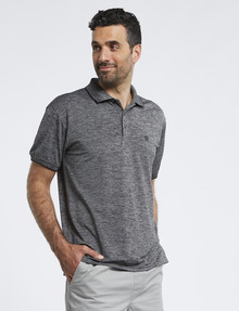 Chisel Stripe Quick Dry Polo, Black product photo