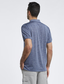 Chisel Stripe Quick Dry Polo, Blue product photo