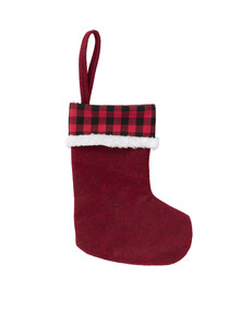 Home Of Christmas Felt Stocking, Red product photo