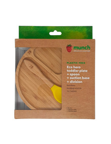 Munch Eco Baby Suction Plate & Spoon, Yellow product photo