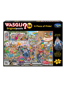 Wasgij 1000 Piece Puzzle, Original 34, A Piece Of Pride product photo