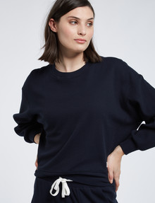 Mineral Lounge Waffle Crew Sweater, Midnight product photo