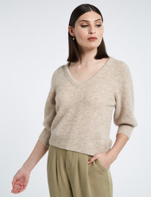 State of play Anabelle Alpaca-Blend Sweater, Natural product photo