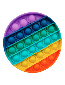 Popit Fidget Toy, Rainbow Circle product photo