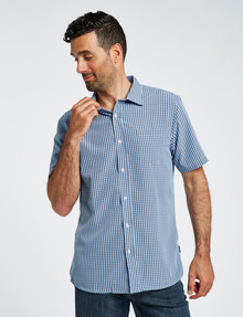 Chisel Short Sleeve Soft Touch Shirt, Light Blue product photo