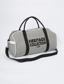 Whistle Heritage Canvas Over-Nighter Bag, Black Stripe product photo