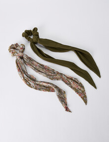 Whistle Kate Scarf Scrunchie, 2-Pack product photo