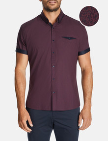 Connor Lauro Slim-Fit Shirt, Wine product photo