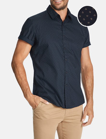 Connor Rowen Print Short-Sleeve Shirt, Ink product photo