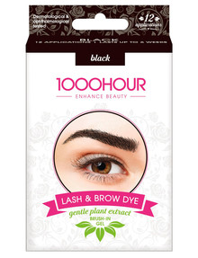 1000HR Eyelash & Brow Plant Based Kit, Natural Black product photo