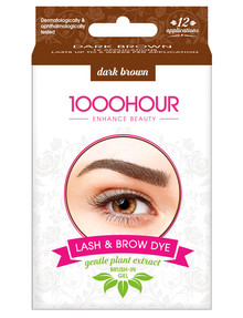 1000HR Eyelash & Brow Plant Based Kit, Dark Brown product photo