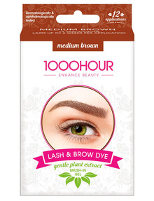 1000HR Eyelash & Brow Plant Based Kit, Medium Brown product photo