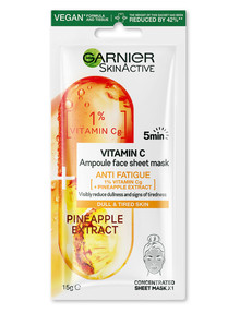Garnier Ampoule Tissue Mask, Pineapple product photo
