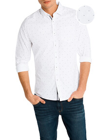 Connor Stockwell Slim-Fit Casual Shirt, White product photo