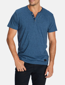 Connor Anthony Henley Tee, Blue product photo