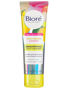 Biore Yuzu Lemon Ginseng Brightening Jelly Cleanser, 118ML product photo
