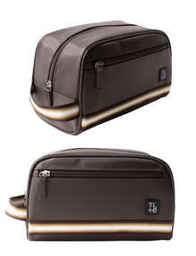 Tender Love + Carry Webbed Large Toiletry Case, Brown product photo