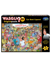 Wasgij 1000 Piece Puzzle, Original 35, Car Boot Caper product photo