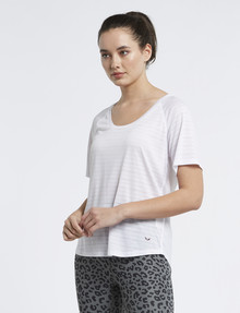 Superfit Burnout Stripe Tee, White product photo