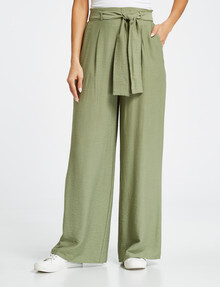 Whistle Tie Front Pant, Sage product photo