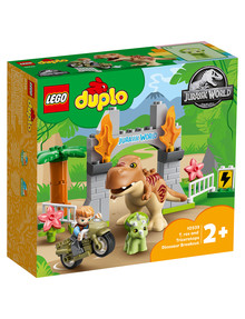 Lego Duplo T. Rex And Triceratops Dinosaur Breakout, 10939 product photo