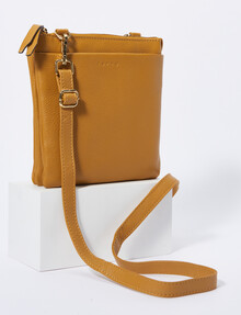 Carte Pouch Front Crossbody, Mustard product photo
