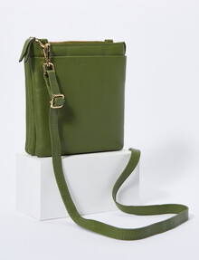 Carte Pouch Front Crossbody, Green product photo