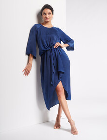 Whistle Occasion Half Sleeve Drape Front Dress, Sapphire product photo