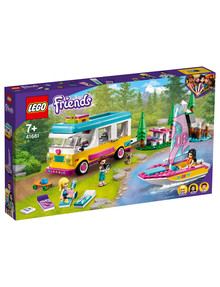 Lego Friends Forest Camper Van And Sailboat, 41681 product photo