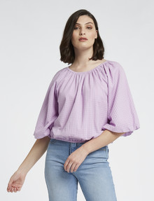 Mineral Esther Cotton Top, Lavender product photo