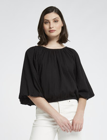 Mineral Esther Cotton Top, Black product photo