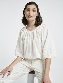 Mineral Esther Cotton Top, White product photo