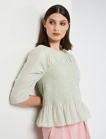 State of play Morning Sun Blouse, Lime Sorbet product photo