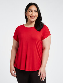 Bodycode Curve Boxy Tee, Red product photo