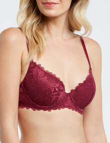 Acapella Bethany Contour Bra, Berry, B-D Cup product photo