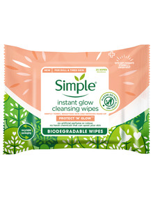 Simple Instant Glow Biodegradable Wipes, 20 Wipes product photo