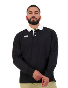 Canterbury Retro Rugby Jersey Long-Sleeve Sweater, Black product photo