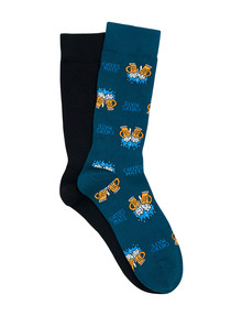 Bonds Novelty Crew Sock, 2-Pack, Cheers product photo