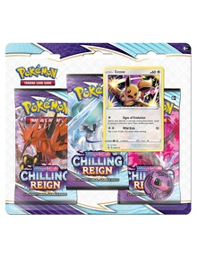 Pokemon Trading Card Game Chilling Reign 3 Pack Blister, Assorted product photo