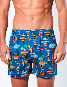 Mitch Dowd Woven Boxer, Holiday Inn, Blue product photo