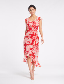 Whistle Occasion Ruffle Dress, Christmas Floral product photo