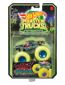 Hot Wheels Monster Truck Glow-In-The-Dark 1:64 Trucks, Assorted product photo
