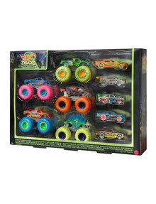 Hot Wheels Monster Truck Glow-In-The-Dark Truck & Car Multi-Pack product photo