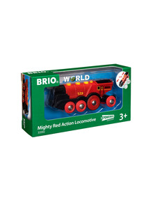 BRIO Battery Operated Mighty Red Action Locomotive product photo