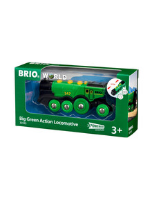 BRIO Battery Operated Big Green Action Locomotive product photo