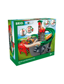 BRIO Set - Lift And Load Warehouse Set, 32 Pieces product photo