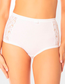 Triumph Cotton and Lace Full Brief, White product photo